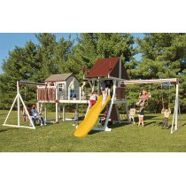 Vinyl Swing Set C8 Bridge Escape by Swing Kingdom  - Almond, Red, Yellow - C8-almd-rd-yllw-210x210.jpg