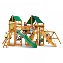 Pioneer Peak Cedar Swing Set w/ Amber Posts / Sunbrella Canvas Forest Green Canopy - 01-0006-AP-2-210x210.jpg
