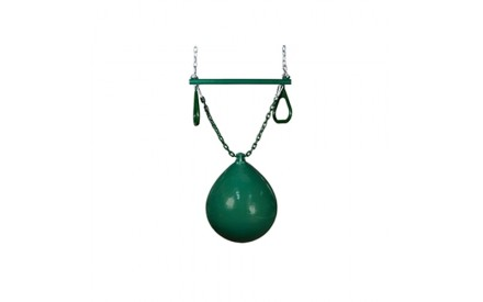 Gorilla Playsets Buoy Ball with Trapeze Bar - Green