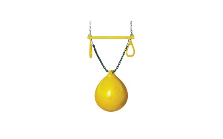 Gorilla Playsets Buoy Ball with Trapeze Bar - Yellow