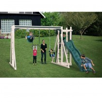 Vinyl Swing Set A1 by Swing Kingdom- Almond & Green - A1-Almond-Green-Swing-Set-210x210.jpg