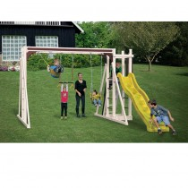 Swing Kingdom A1 Vinyl Swing Set - Almond Red & Yellow - A1-Almond-Red-Yellow-Swing-210x210.jpg