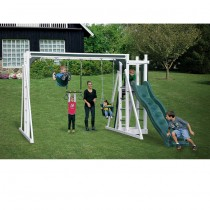 Vinyl Swing Set A1 by Swing Kingdom - White & Green - A1-White-Green-Swing-Set-210x210.jpg