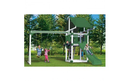 KC3 Deluxe Vinyl Swing Set by Swing Kingdom - 4 Color Options