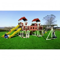Swing Kingdom RL-1 Adventure Deluxe Tower Vinyl Swing Set  - 4 Color Options - rl1-adventure-swing-set-ayr-210x210.jpg