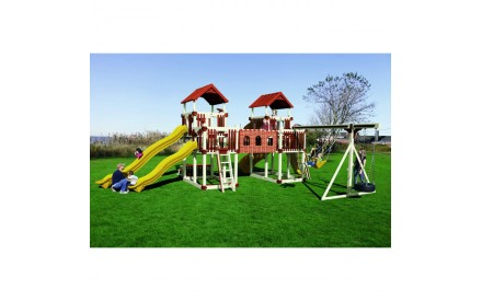 Swing Kingdom RL-1 Adventure Deluxe Tower Vinyl Swing Set  - 4 Color Options