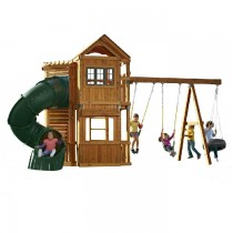 Durango Wood Complete Playset With Green Turbo Slide - durango-swing-set-210x210.jpg