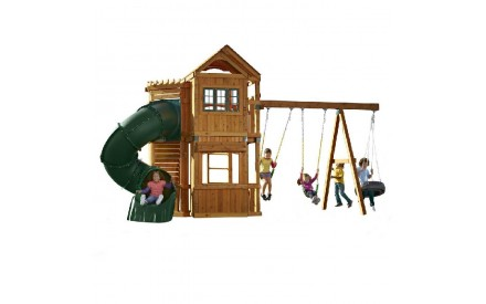 Durango Wood Complete Playset With Green Turbo Slide