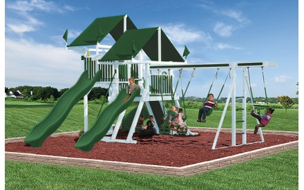 Swing Kingdom SK30 Vinyl Mega Mountain Climber Swing Set - 4 Color Options