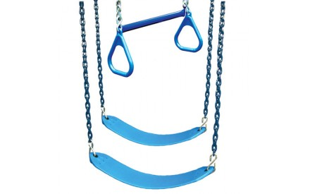 Belt Swings & Trapeze Swing - 3 Position Accessory Kit in Blue