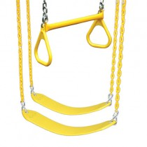 Belt Swings & Trapeze Swing - 3 Position Accessory Kit In Yellow