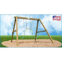 Classic Wooden Swing Set / Swing Beam & Chained Accessories