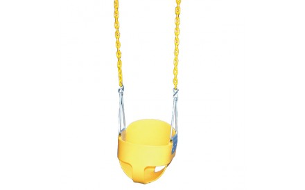 Gorilla Playsets Yellow Full Bucket Toddler Swing
