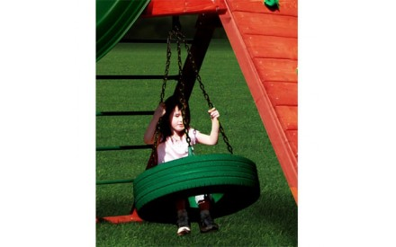 Gorilla Playsets 360 Tire Swing - Green