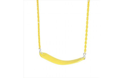 Gorilla Playsets Deluxe Swing Belt with Coated Chain - Yellow