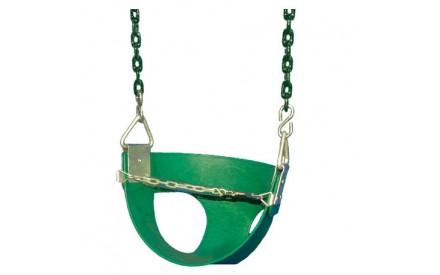 Toddler Half Bucket Swings - Green