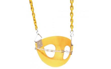 Toddler Half Bucket Swings - Yellow