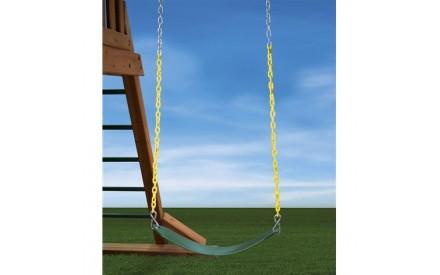 Heavy Duty Swing Belt in Green With Yellow Chain