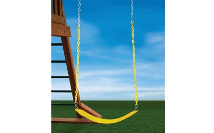 Heavy Duty Swing Belt in Yellow With Yellow Chain
