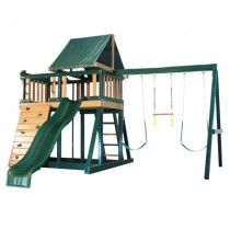 Kidwise Congo Monkey Playsystems  #1 Swing Set in Green & Brown - Monkey-1-WonderWaveSlide-210x210.jpg
