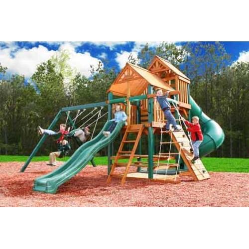 Kidwise Rubber Mulch Residential Swing Sets Backyard