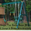 Kidwise Congo Monkey Playsystems #3 Swing Set Green & Brown