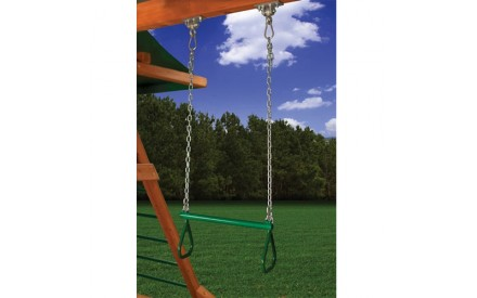 Trapeze Bar with Chain & Handles Green