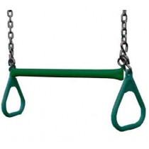 "Gorilla Playsets 21"" Trapeze bar w/ rings - Green - Trapeze-Bar-Rings-Green-210x210.jpg"