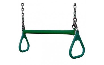 "Gorilla Playsets 21"" Trapeze bar w/ rings - Green"