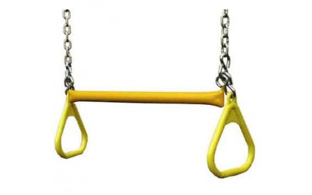 "Gorilla Playsets 21"" Trapeze bar w/ rings - Yellow"