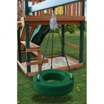 Residential Plastic Tire Swing - Green