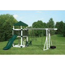 Swing Kingdom Deluxe Kastle Tower Vinyl Swing Set KC5 - 4 Color Options - kc5-white-green-210x210.jpg