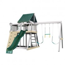 Kidwise Congo Monkey Playsystems  #1 Swing Set in White & Green - monkey1greenandwhite-210x210.jpg
