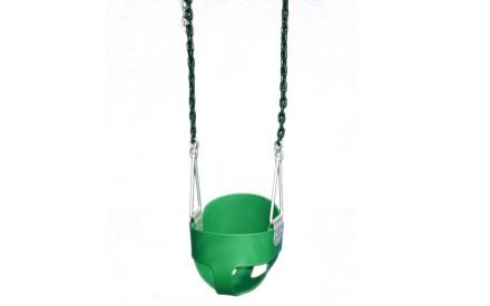 Gorilla Playsets Green Full Bucket Toddler Swing