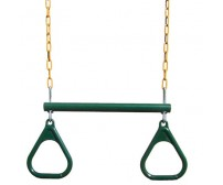 "Gorilla Playsets - Trapeze Bar w/ rings 17"" - Green"